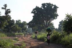 SOUTH SUDAN Women walking along the road to Yei. PHOTO by SEAN SPRAGUE 2008
