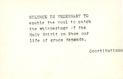 Silence is necessary...