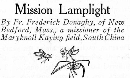 Mission Lamplight <p> A Reflection on Illumination by Bishop Frederick Donaghy, MM