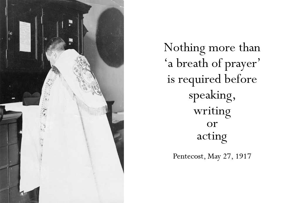 Nothing more than 'a breath of prayer'...