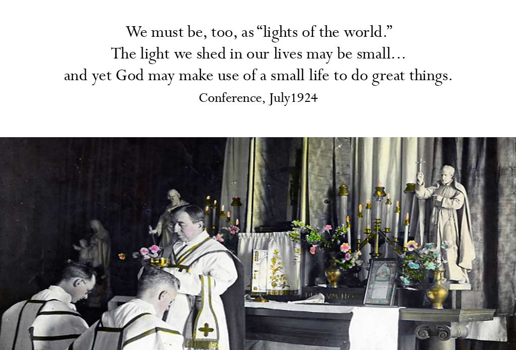 """We must be, too, as """"lights of the world..."""""""