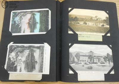 A scrapbook of old postcards depicting the Venard, Clarks Summit, PA