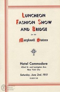 Long Island Maryknoll Committee Fashion Show Program, 1951