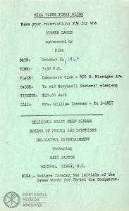 NIKA, Event Information, 1964