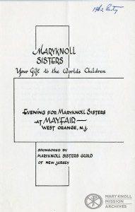 New Jersey Guild, Program, 1962