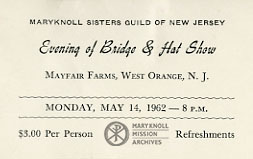 New Jersey Guild, Ticket, 1962