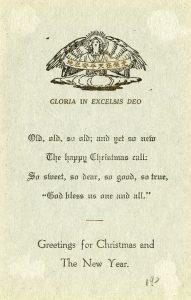 Christmas Greetings 1920s