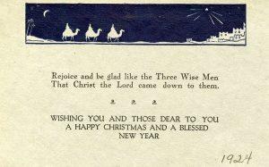 Christmas Greetings 1924