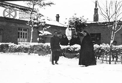Maryknoll Sisters at their house in Fushun, China, 1932