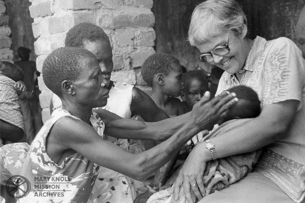 Sr. Ruth Greble in Liria Village, Sudan, 1980