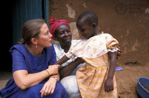 Lay Missioner Christine Bodewes in Kibera slum, Nairobi