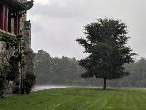 Heavy rain at Maryknoll