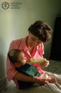 Lay Missioner Kathy Kremer, working with disabled children, Cambodia