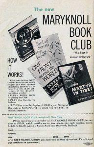 Maryknoll Book Club Ad 1957