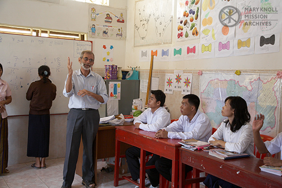 Father Charlie Dittmeier teaching at the Deaf Development Center, Cambodia, 2006