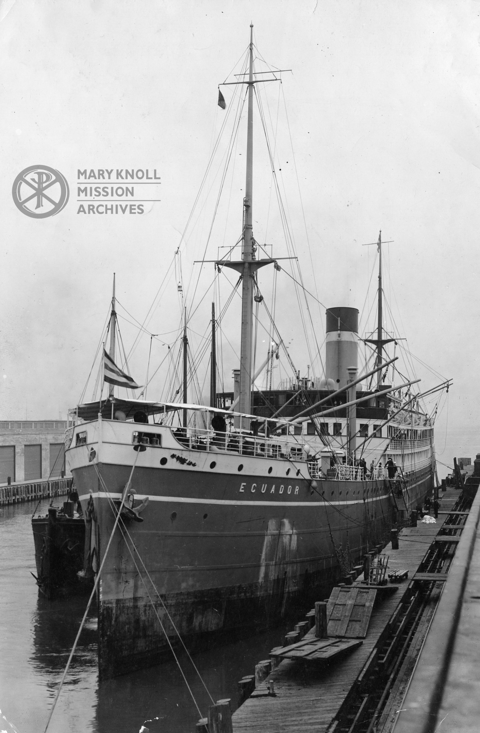SS Ecuador, which carried the missioners to Japan