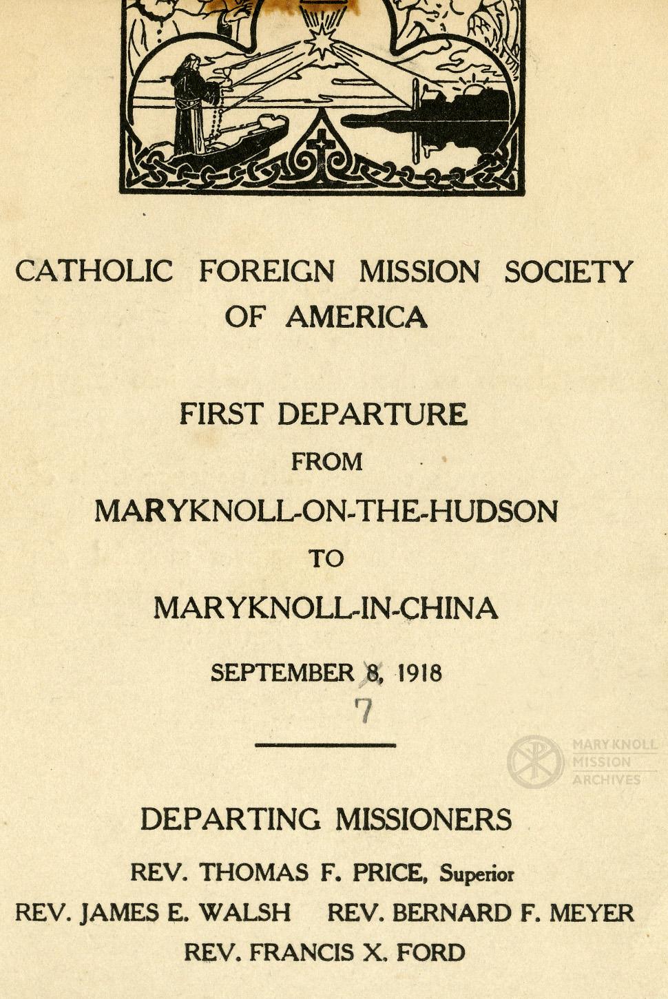Departure Program, 1918