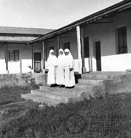 Maryknoll Sisters Group in front of their home in Kowak, Tanzania