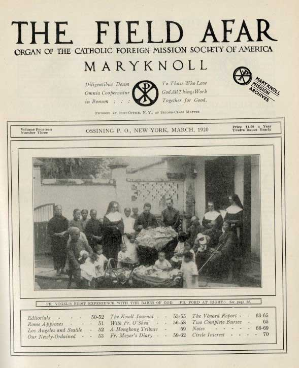 Cover of The Field Afar, March 1920