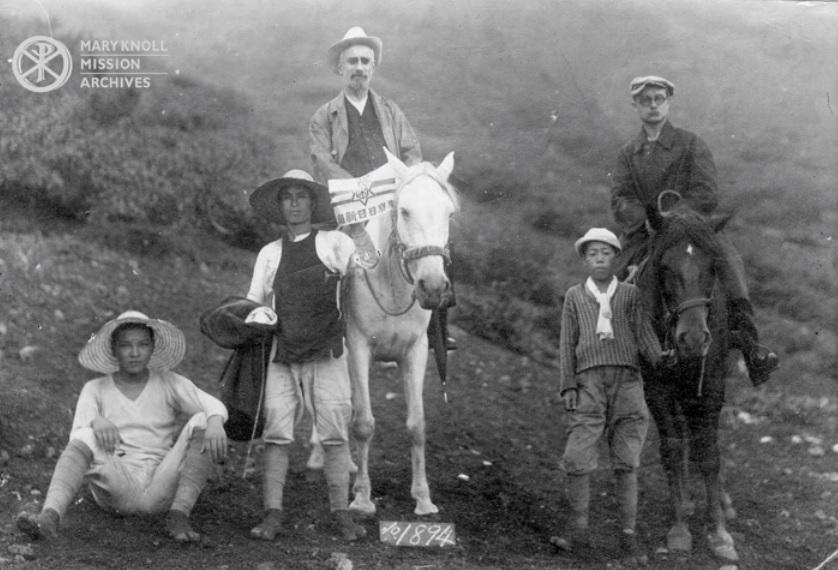 Fr. Considine (right on horse) in Japan