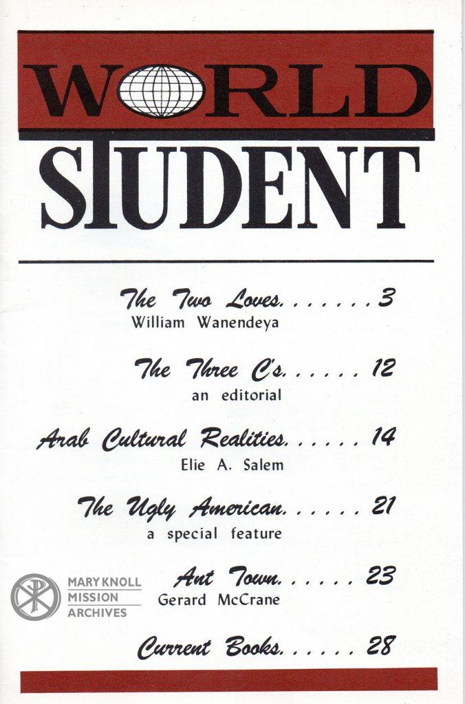 World Student, April 1959