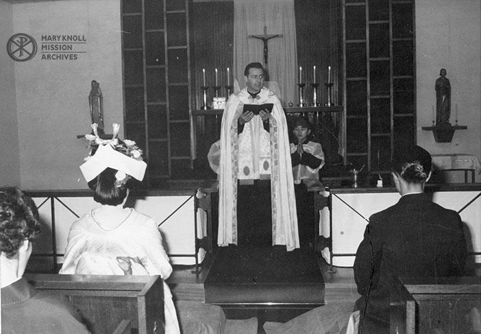 Fr. James Gorman presiding over a wedding in Japan