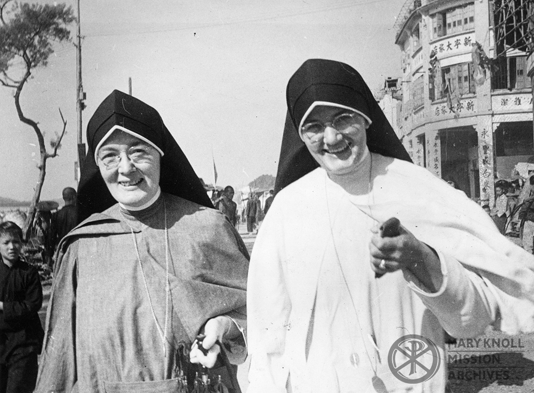 Sister Imelda Sheridan and Sister Moira Riehl, Wuchow, China, 1948