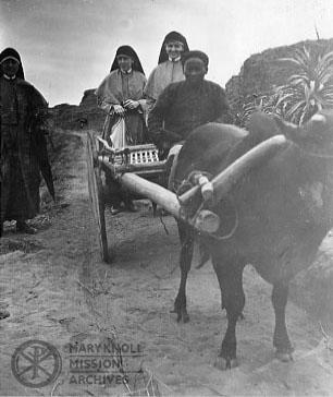 Sisters Mary Rose Leifels, Mary Monica Moffatt, and Marie de Lourdes Bourguignon, Yeung Kong